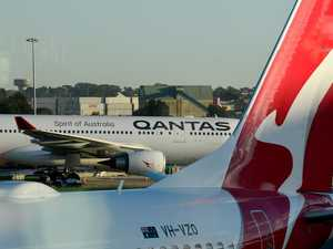 'Flames and sparks' on Qantas flight