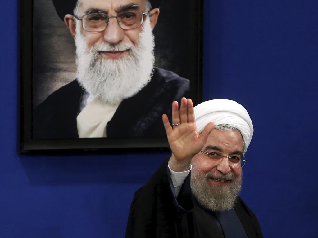 Iran's President Hassan Rouhani warns Iran is facing 'an unprecedented all-out war'. Picture: AP