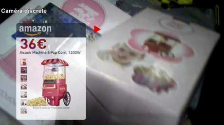 One of the items caught on camera was a popcorn machine worth €36 ($A58). Picture: RTL.FR