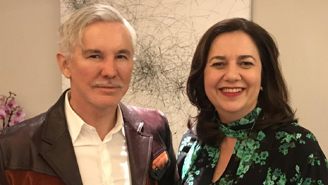 Queensland Premier Annastacia Palaszczuk with film director Baz Luhrmann. Picture: supplied