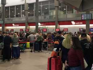Big delays as check-in system fails