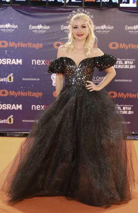 Kate Miller-Heidke in Tel Aviv  for the start of Eurovision. Picture: AP