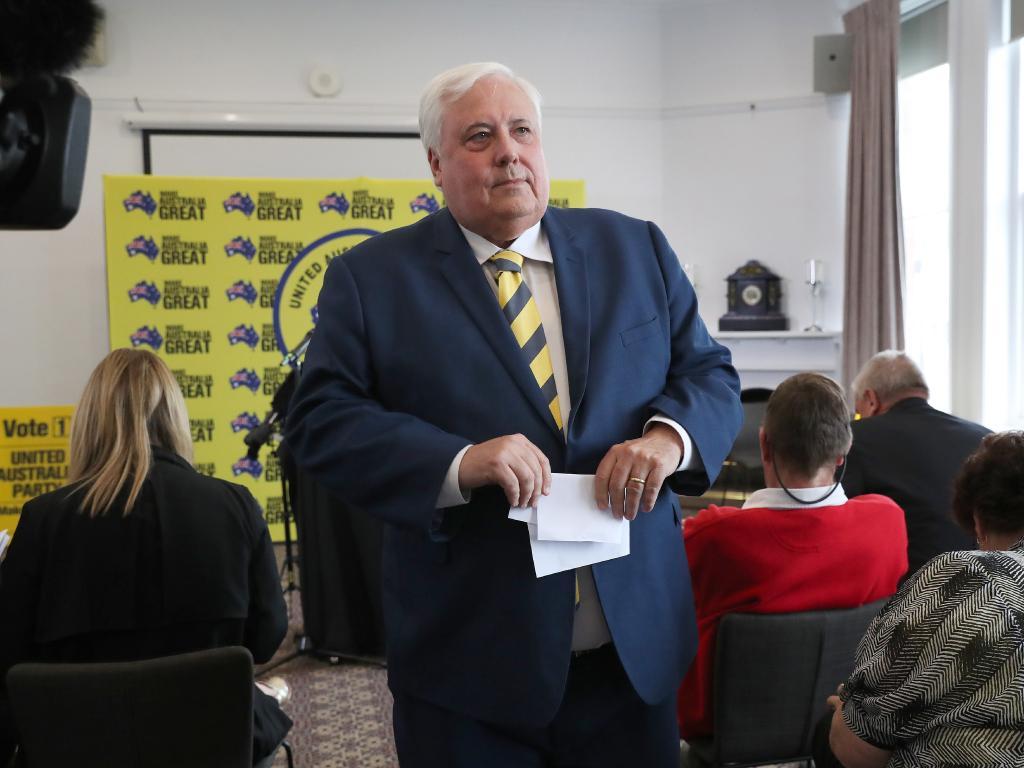 Clive Palmer in Hobart. Picture: NIKKI DAVIS-JONES