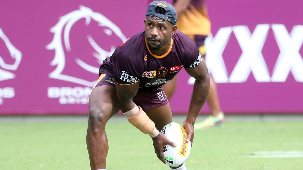 Segeyaro wasn't disguising his glee at joining Brisbane. Image: AAP Image/Richard Gosling