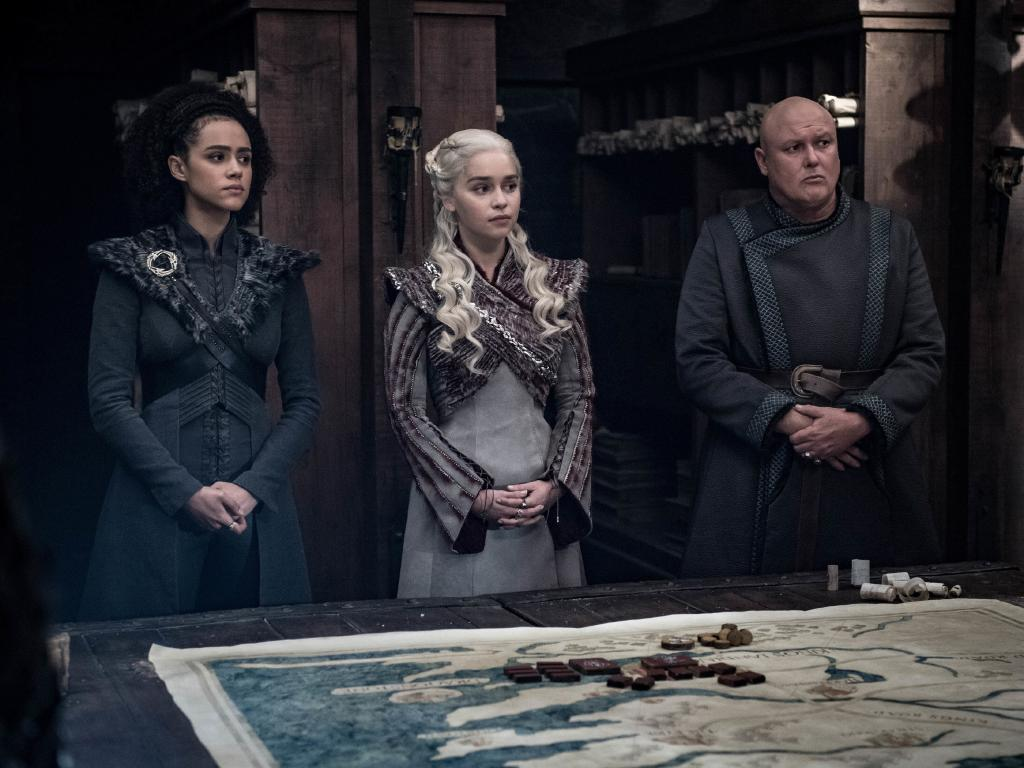 Emilia Clarke, whose character Daenerys Targaryen is facing trouble on many fronts in her pursuit of the Iron Throne, could probably do with a coffee right about now. Picture: HBO