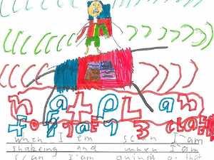 Kids' heart-wrenching drawings of NAPLAN