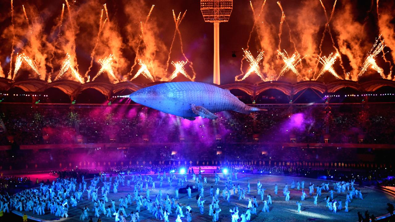 Gold Coast Commonwealth Games Opening Ceremony with the white whale Migaloo. Picture: Dan Mullan/Getty Images