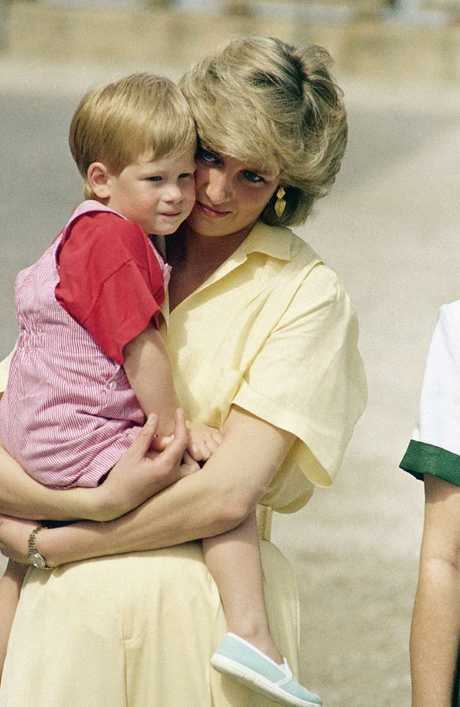 Princess Diana with Harry in 1987. Picture: AP
