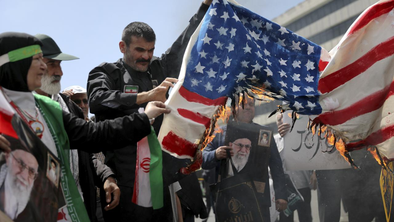 Both the US and Iran are ratcheting up their rhetoric. Picture: Ebrahim Noroozi/AP