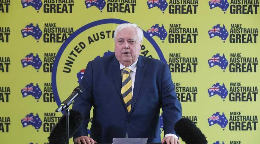 Clive Palmer of the United Australia Party. Picture: NIKKI DAVIS-JONES