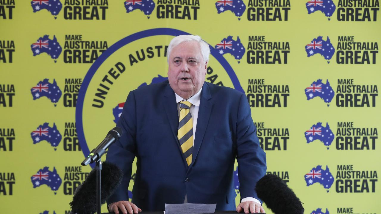 Clive Palmer of the United Australia Party. Picture: NIKKI DAVIS-JONES