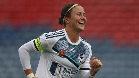Melbourne Victory's Christine Nairn was a clear winner of the Julie Dolan medal. Picture: Getty