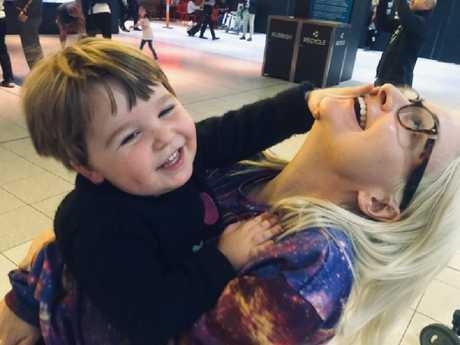 Kate Miller-Heidke with son Ernie before she heads to Eurovision. Picture: Instagram/@katemillerheidke