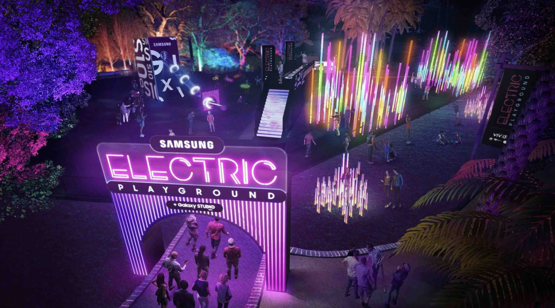 Samsung will unveil an Electric Playground at Vivid festival in Sydney later this month.