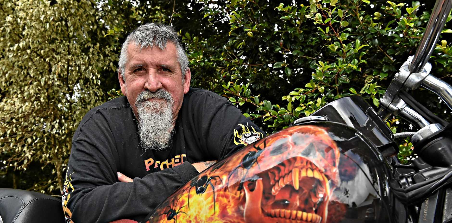 REVVED UP: Colin Dixon will attend this Sunday's Palmwoods Car Festival with his unique motorcycle.