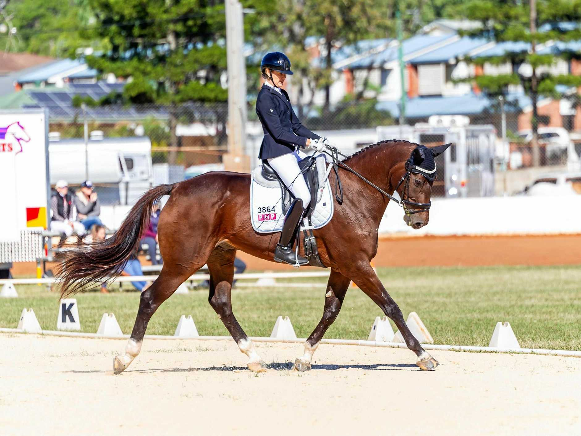BIG LINE-UP: Caroline Bonney riding Battlestar Galactica took out the Elementary championship. More than 100 riders competed at the Horseland Ipswich Brenda Wittmann Classic 2-Star Regional Championship in Gatton.