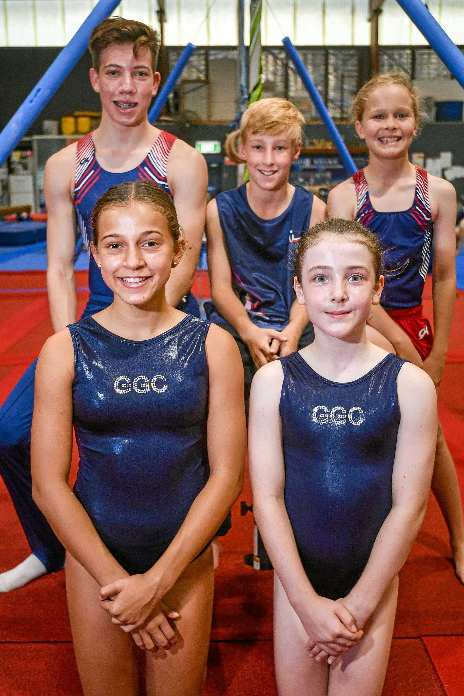 SHINING TALENTS: Sebastian Kornbrekke 9, Sienna Lambert 10, Laylannie Willie 13, Cooper Maitland 16 and Charlie Smallcombe 10, will all be in action this weekend.