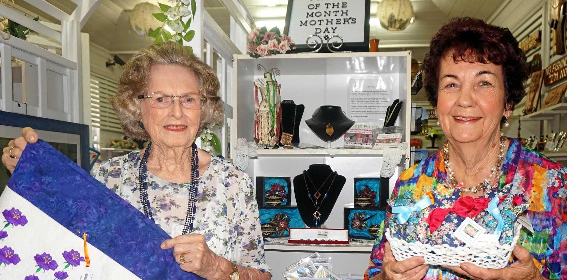 CREATIVE: Rita Roberts, left, and Veronica McFadzen at the Sarina Arts and Crafts Centre.