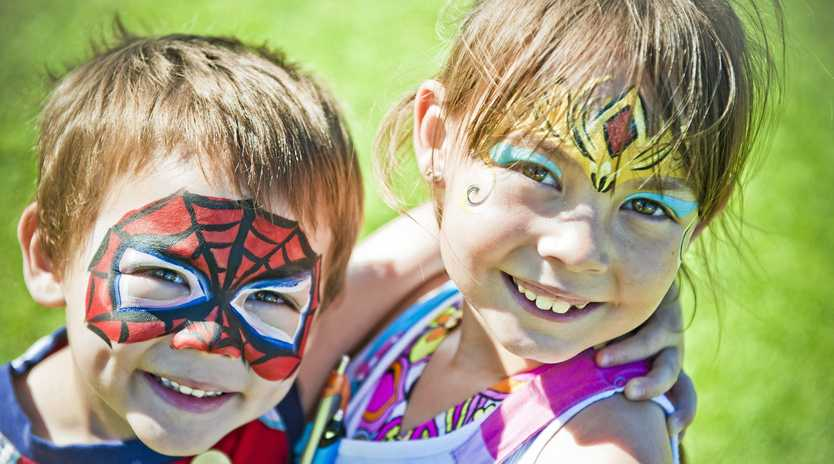 PLAY TIME: Face painting is sure to be a hit with children attending this year's Under 8s Kids Day Out, as well as painting, collage, an obstacle course, music and storytelling. Photo: RonTech2000