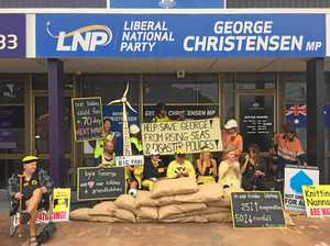 Cops called on Knitting Nannas at MP's office