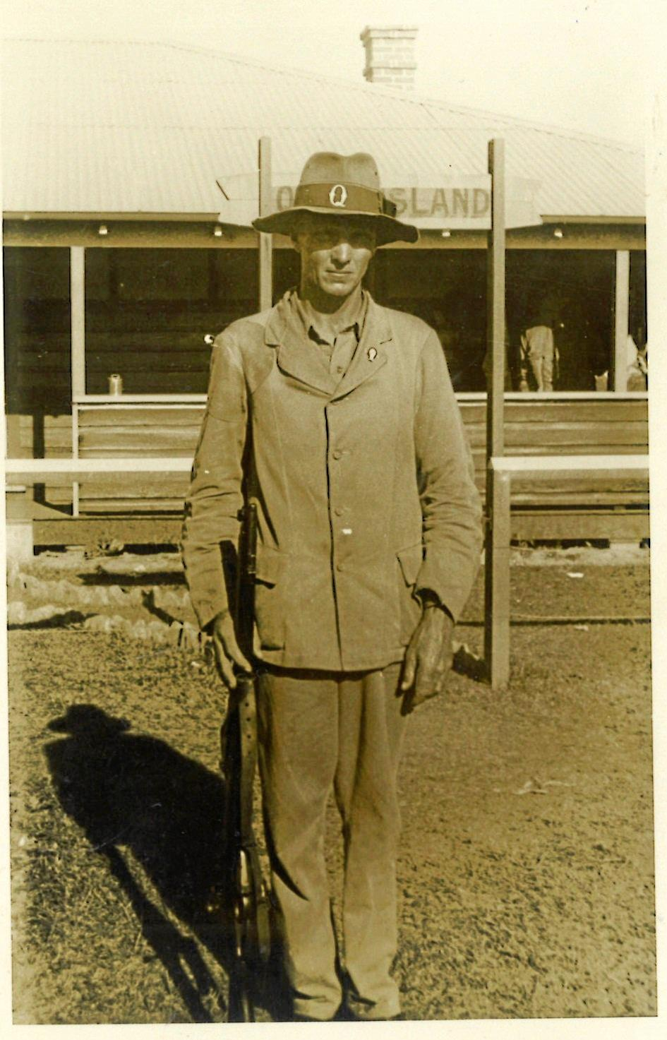 An early photo of world champion rifle shooter and Goodger resident Victor Roy Buttsworth.