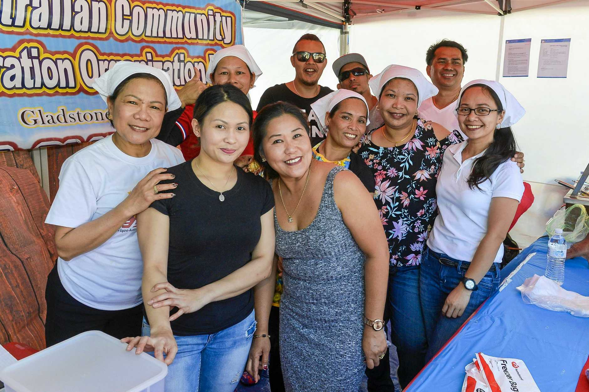 Filipino Australian Community Integration Organisation at the Gladstone Multicultural Association Festival Day, 2018.