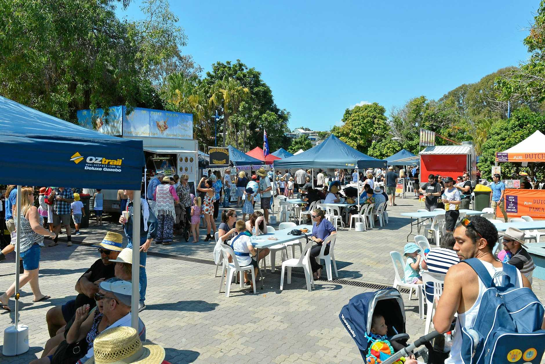 A lack of shade at the Marina Parklands had been a concern during previous Gladstone Multicultural Festival's.