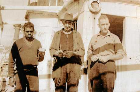Banjo, one of the Butchulla tribe, Gus Meyers from Maryborough and Judy's grandfather Kenneth Miller.