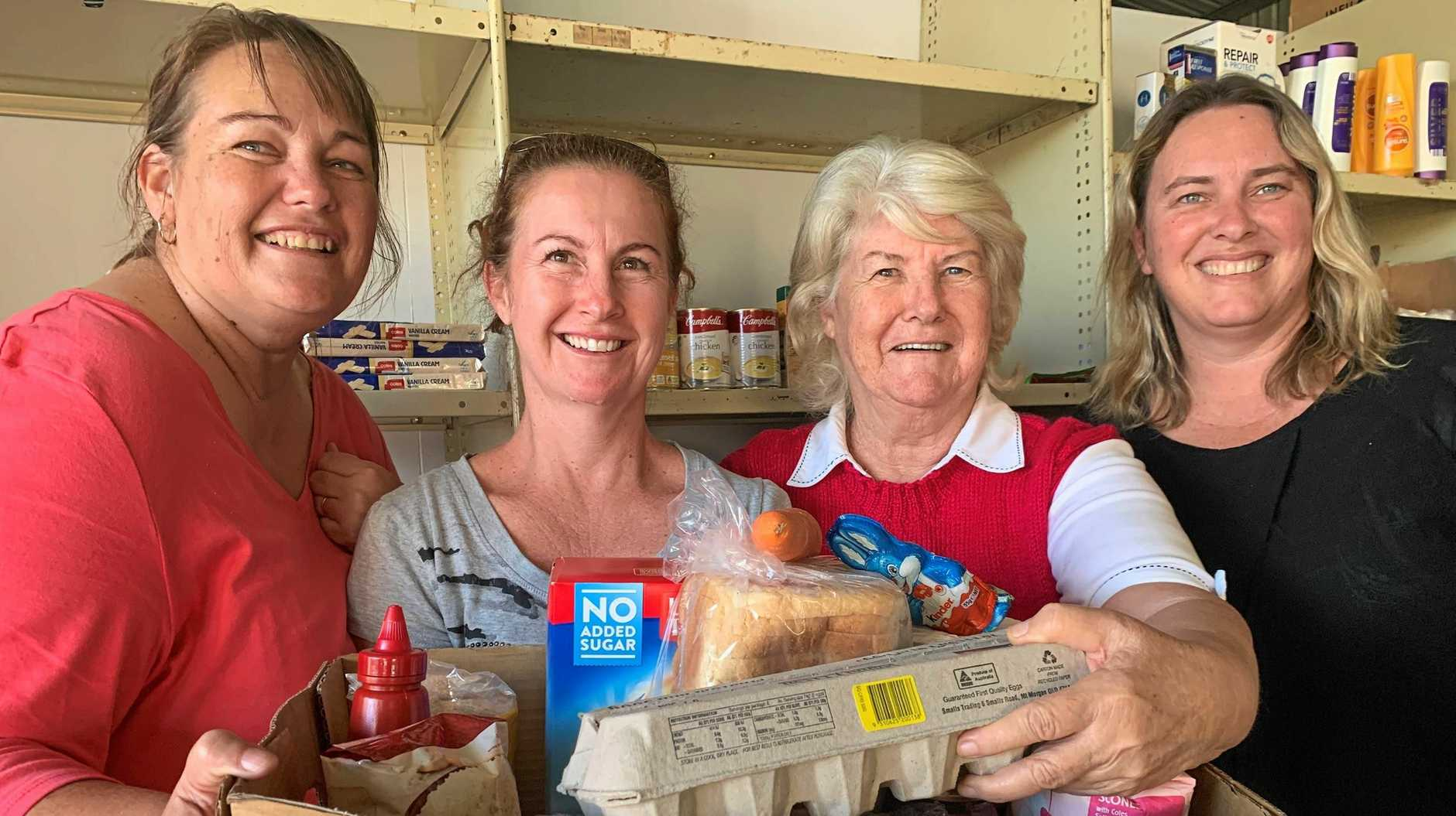 GOOD CAUSE: Food Relief Capricorn Coast volunteers Stacey Watson, Kerrie McDonald, Barbara McDonald and Robyn Booth are thrilled to be lending a hand.
