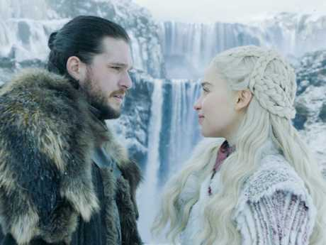 Winter (and tears) are coming! Kit Harington as Jon Snow and Emilia Clarke as Daenerys Targaryen. Picture: HBO