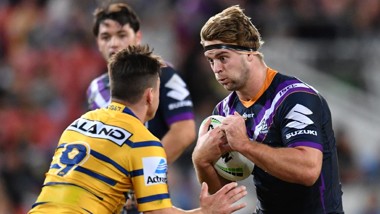 Melbourne Storm prop Christian Welch is set to debut for Queensland next Wednesday night. Picture: Darren England/AAP