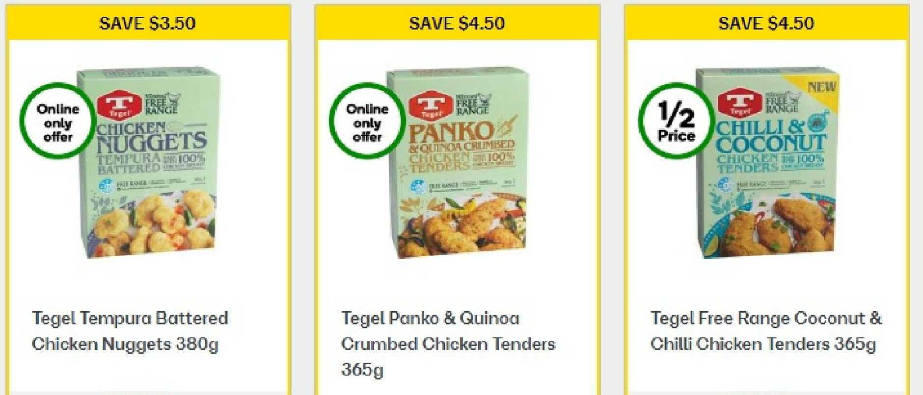 A limited selection of items in the freezer section of Woolworths have been reduced by 50 per cent.