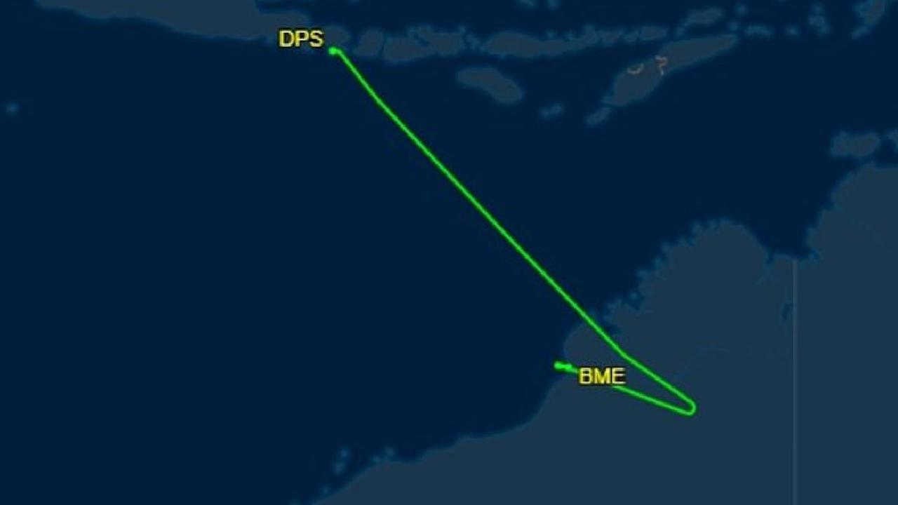 QF44 landed in Broome en route from Bali to Sydney. Picture: Flightaware