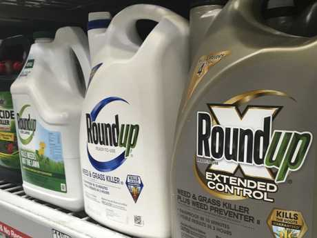 Containers of Roundup are displayed on a store shelf in San Francisco. Picture: AP