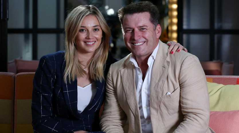 Karl Stefanovic joined Jasmine at a Fashion Week brunch in Sydney on Friday. Photo: Jane Dempster.
