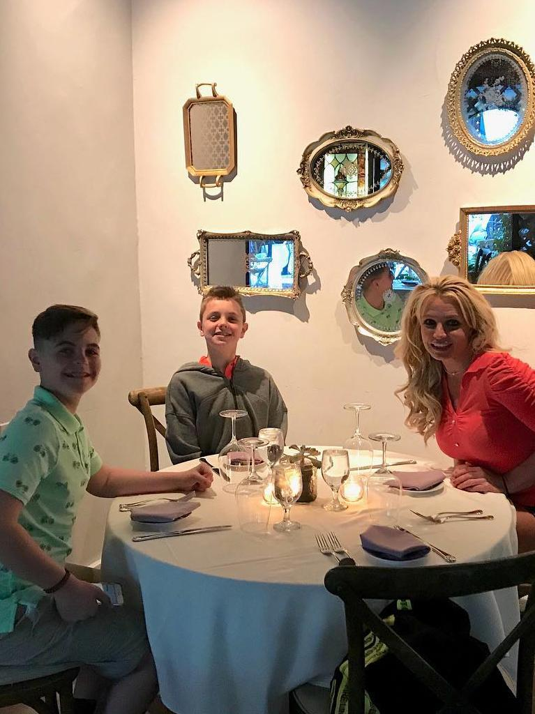 Britney with her two boys.