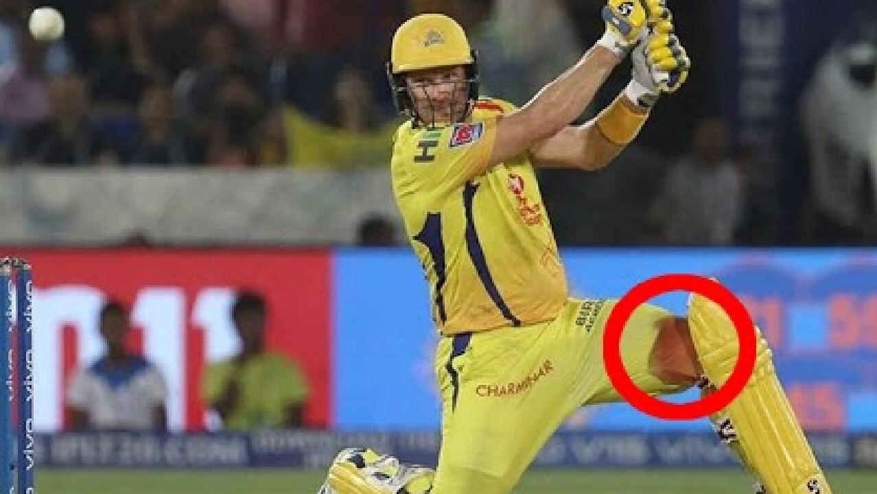 Shane Watson put his body on the line.