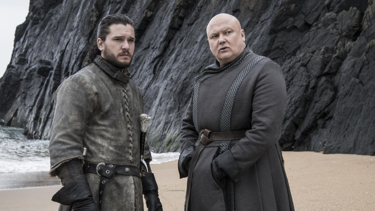 Varys urged Jon to take the Iron Throne for himself. Picture: Supplied/ HBO