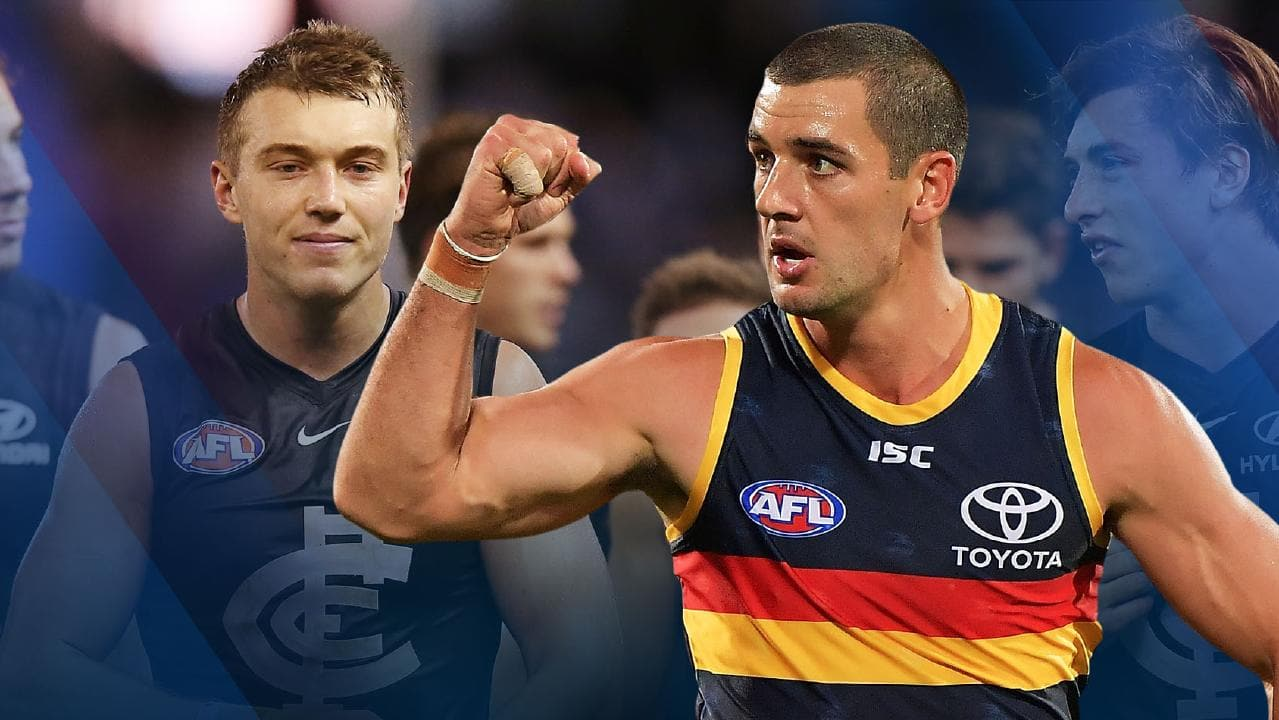 Where does the Carlton and Adelaide pick swap sit after Round 8?