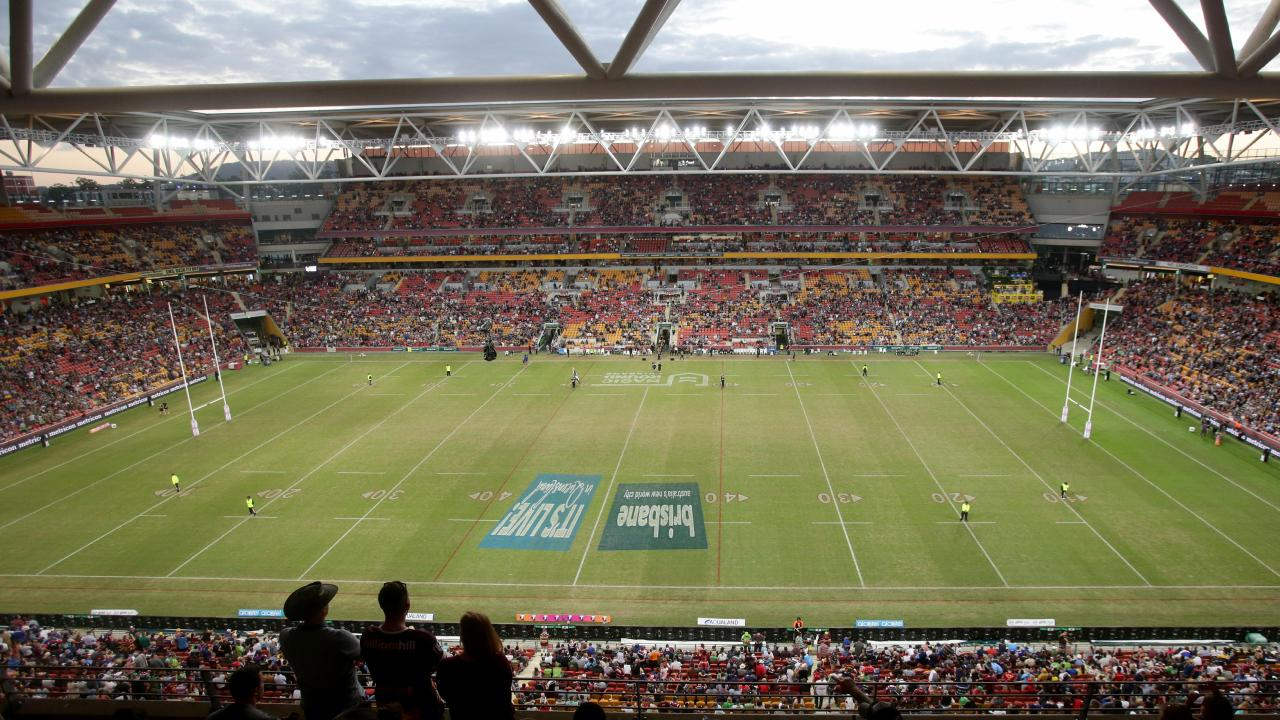 The game will be the ninth match at Suncorp in eight days. Image AAP/Steve Pohlner.