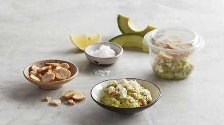 Coles' version of smashed avocado, tomato, fetta and mini toast will cost $4.50.