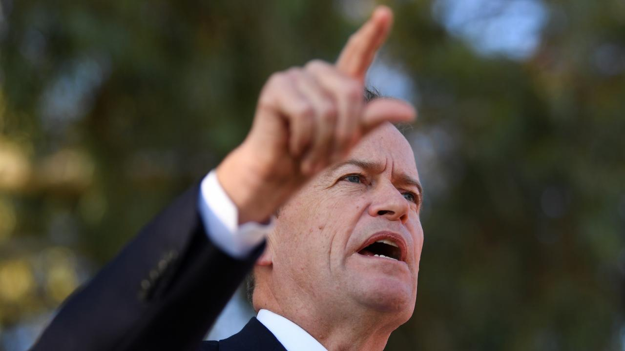 On Tuesday, Opposition Leader Bill Shorten called out Scott Morrison for not stating that gay people will not go to Hell. Picture: AAP/Lukas Coch