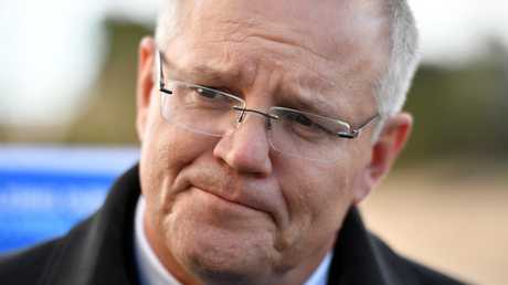 "Prime Minister Scott Morrison called Shorten's attack a ""desperate, cheap shot."" Picture: Mick Tsikas-Pool/Getty"