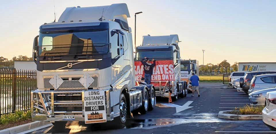 FIGHTING FOR DRIVERS: The TWU protest against the government's refusal to put