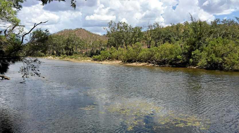 Urannah Creek, site of proposed Urannah Dam, west of Mackay