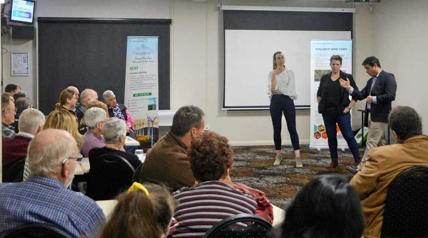 WIND FARM MEETING: Residents gather at the community meeting to discuss the Kingaroy wind farm project.