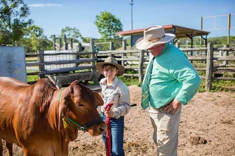 Korbin McDonald and Head of Agriculture, Bill Oram.