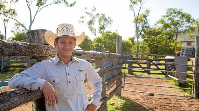 AGRICULTURE ENTHUSIAST: Year 9 St Brendan's College boarder Bryce Voll.