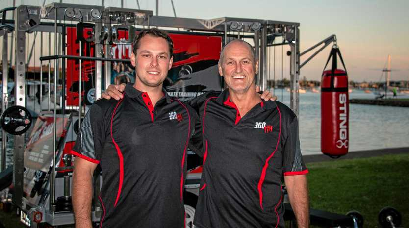 Wayne and Beau Cairns' 360gym is the only complete mobile gym of its kind in the world.
