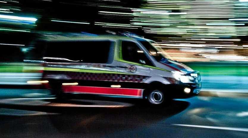 Ambulance crews attended the crash at 8.11pm last night.